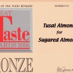 Great Taste Bronze Award 2006 - Sugared Almonds