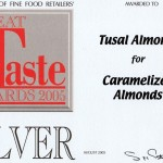 Great Taste Silver Award 2005 - caramelised almonds
